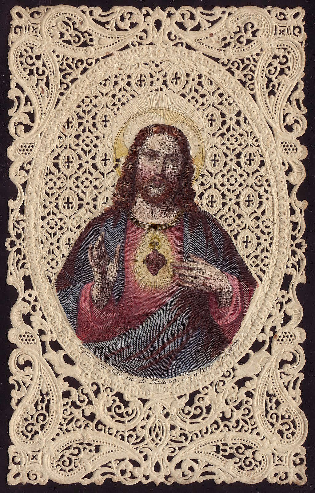 Sacred Heart of Jesus lace np