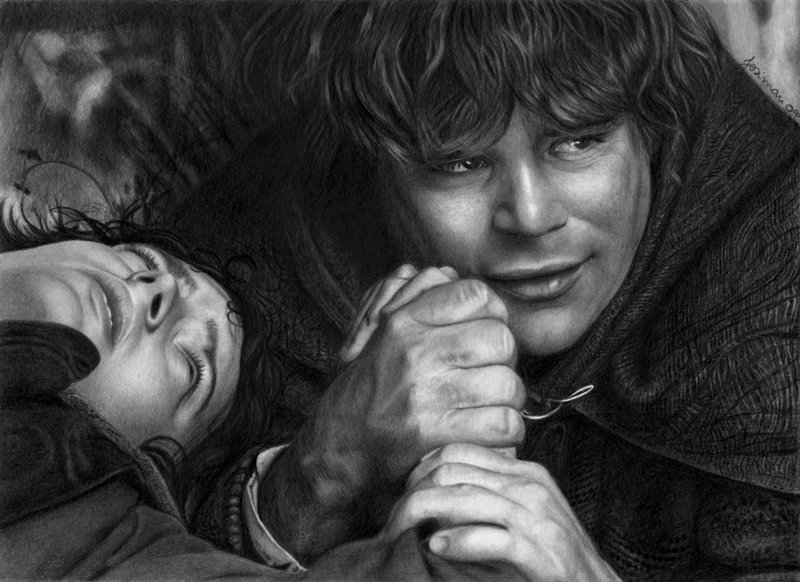 frodo_and_sam_by_esteljf-d2esehh